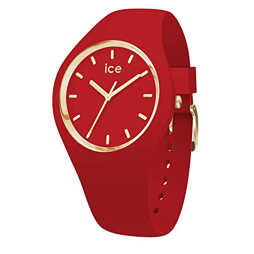 Ice-Watch - Ice Glam Colour Red - Rote Damenuhr mit Silikonarmband - 016263 (Small)