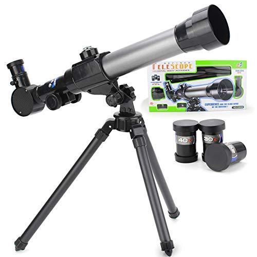 Telescopio astronómico para niños con trípode
