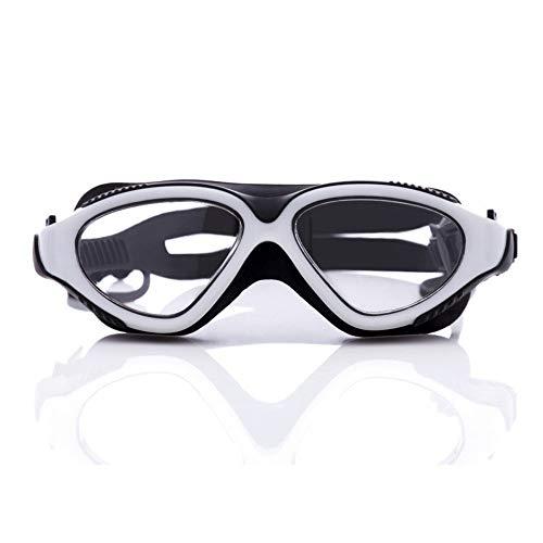SimmiaHome Lens Mirror Clear Comfortable No Leaking Triathlon Full Free Case Headset Anti-Glare Training Competition Clear VisionWasserdichte Schutzbrille gegen Beschlagen, weiß