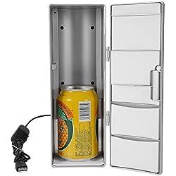 Mini USB Frigo Silencieux Réfrigérateur MiniBar Congélateur de table Refroidisseur / Chauffage pour Maison Bureau Voiture Voyage