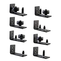 vocheer Barn Door Floor Guide,Wall Mounted Stay Roller Guides with 8 Different Setups, Ultra Smooth Fully Adjustable Channel,Bottom Floor Guide for All Sliding Barn Door Hardware