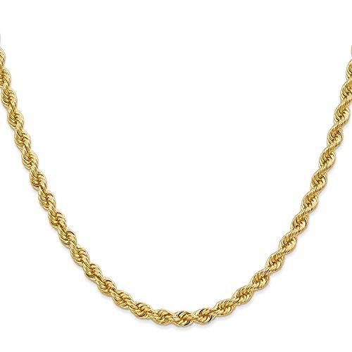/14carats 585or jaune 4,40mm Cordon Chaîne (Rope Chain) Unisexe