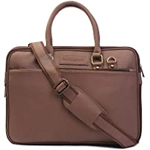 MUTAQINOTI Sleek & Compact Vegan Leather Handmade Men Women Unisex Laptop Bag MacBook Sling Messenger Bag Office Bag