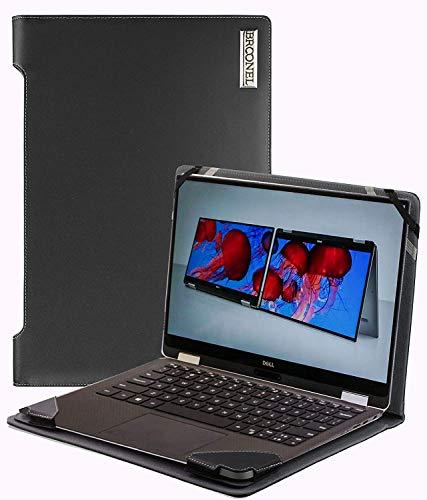 Broonel - Profile Series - Schwarzes Premium Leder Fall/Hülle Trage Tasche kompatibel mit der HP Zbook G5 15V 15.6