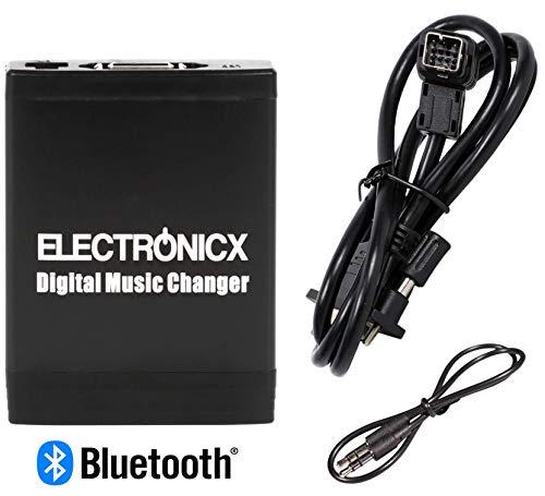 Electronicx Elec-M06-CLAR-BT Adapter USB SD MP3 AUX Bluetooth Freisprechanlage für Clarion Autoradio CD-Wechsler, Stereo - Clarion Stereo Bluetooth