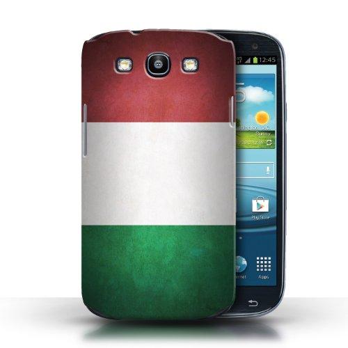 Coque en plastique pour Samsung Galaxy S3/SIII Collection Drapeau - Nigeria Italie/italien