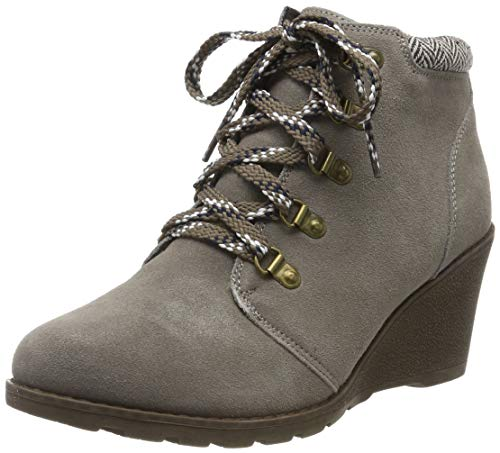 Skechers Tumble Weed, Botines para Mujer, Taupe Suede/Chenille Line TPE, 5 EU