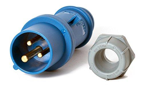 CEE Stecker mit Kupplung 16 A 3 polig - 3