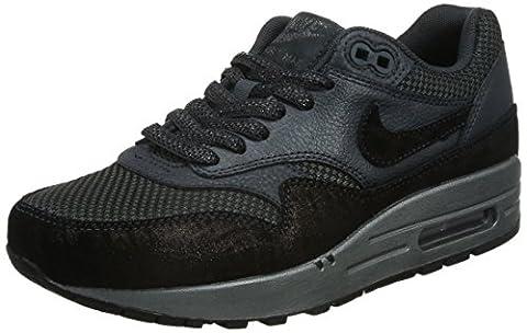 Nike Wmns Air Max 1 Prm, Chaussures de Sport Femme, Noir (Anthracite / Hématite Métallique-Noir), 39