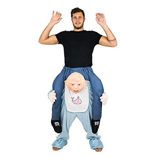 Bodysocks® Baby Huckepack (Carry Me) Kostüm für Erwachsene (Huckepack Fancy Dress Kostüm)