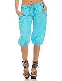 Pantalones Verano Mujer De 3 4 Hipster Pantalones Anchas Pantalones  Linterna Vintage Festivo Capri Pantalones 29d9d4becfb3
