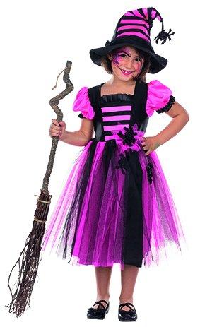 Mädchen Zauberin Kostüm Hexe - Hexe Rabea Kinder Kostüm für Mädchen Zauberin Halloween Fasching