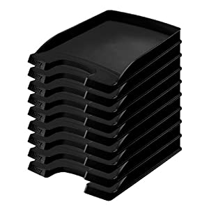 Leitz Plus Letter Tray Slim 35 mm – Pack of 10 Height 37 mm black