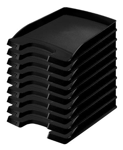 Leitz Plus Corbeille à Courrier Slim 35mm Noir