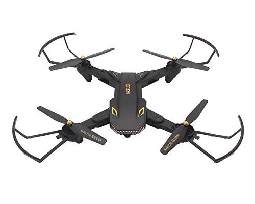 Bacpckys XS809S Faltbare Selfie Drohne mit Weitwinkel 2MP HD Kamera WiFi FPV XS809HW Verbesserte RC Quadcopter Hubschrauber Mini Eders 32,5*32,5*6 cm Schwarz