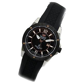 Orient fnr1h002b0–Reloj de pulsera de mujer, correa de caucho color negro