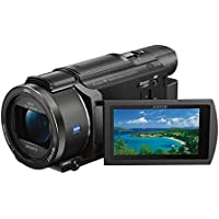 Sony FDR-AX53 Ultra HD 4K Compact Camcorder (HD 5-Axis Balanced Optical SteadyShot, 20x Optical Zoom, Wi-Fi and NFC), Black