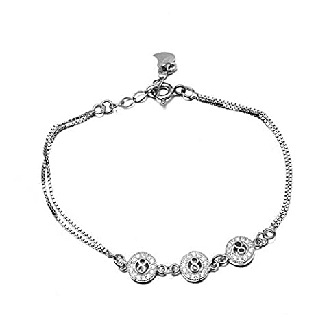 XG S925 facile à transporter Micro Pave zircons mode féminine bracelet réglable plaquage hypoallergénique
