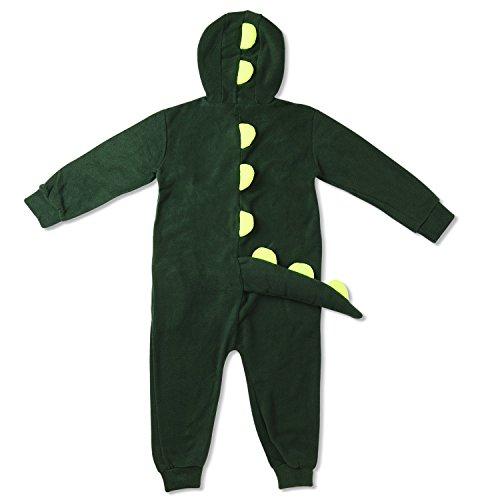 Imagen de kigurumi mameluco pijama con capucha para niños  traje disfraz infantil de animal para otoño, invierno cocodrilo  dinosaurio verde 5 7 años alternativa