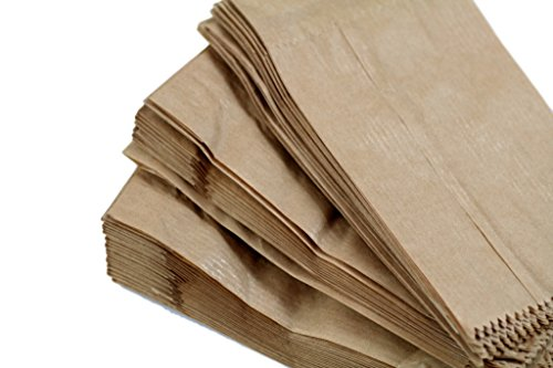 (100Stück) Kraft 340x 60x 160mm, 34x 6x 16cm Papier Geschenk Hochzeit Party Braun Merchandise Sack Papier-Staubsaugerbeutel Lunch Container Lebensmittel flach Craft Takeaway Sandwich, - Papier-lebensmittel-container