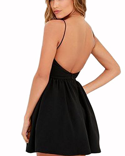 Kleid schwarz kurz ruckenfrei