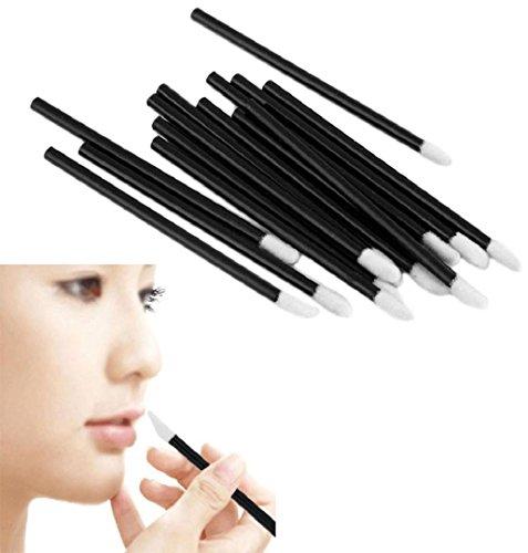100pcs Lippen Pinsel,ZEZKT-Beauty 100pcs Einweg-Lippe Lippenstift Gloss Zauberstäbe Applikator Make-up Kosmetik Pinsel