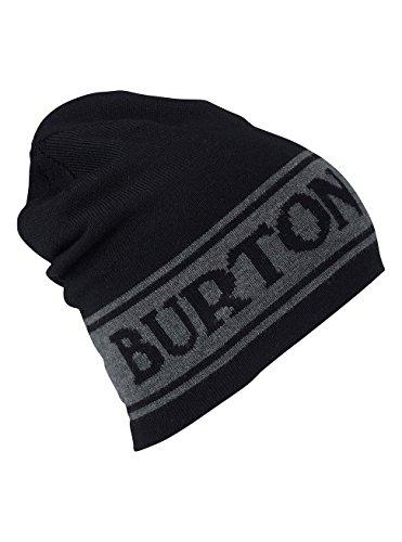 Burton Herren Billboard Wool Beanie Mütze, True Black, One Size | 09009520737138