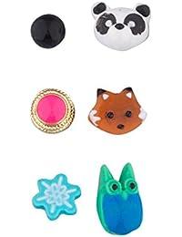 LUX accesorios varios colores múltiples de la niña de la mujer Stud Pendientes (par