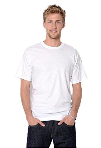Kirkland Herren T-Shirt Rundhalsausschnitt 100% Baumwolle 6er Pack - Weiß - X-Groß