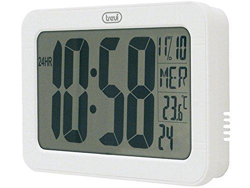 Preisvergleich Produktbild Trevi 3328 Jumbo-LCD-Anzeige Weisse Wanduhr mit Kalender und Temperaturanzeige - Weiß