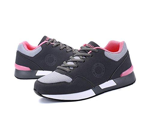 Chaussure de sport randonné antichoc pour amoureux adulte mixte homme femme basket mode cross-country exercice fitness sneakers gris foncé