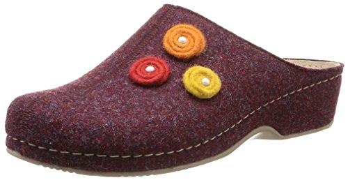 Rohde - 6070 42, Pantofole Donna Rosso (Rouge (Bordeaux))