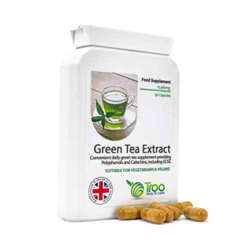 Green Tea Extract Supplement (12,480mg) - 90 Capsules | High Strength | UK Manufactured | Quality Guaranteed