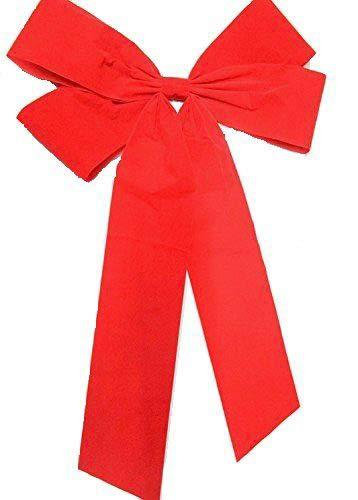 CaPiSo 60 x 90 cm Mega große,rote Schleife für Geschenke,Geburtstag,Weihnachten,Hochzeit (Velour Rot 2)