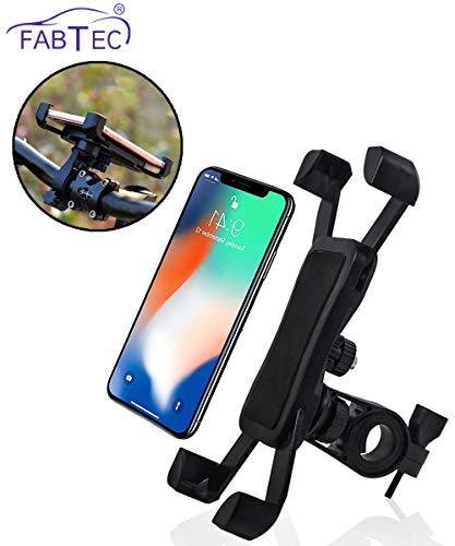 Fabtec Bike Mobile Holder Motorcycle Mount & Stand for Mobile GPS Rotatable for All Bike Handle Grip