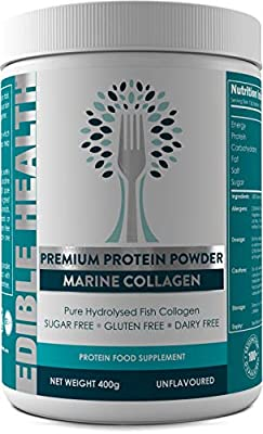 Marine Hydrolysed Collagen Protein Powder - Wrinkles, Hair, Skin, Nails, Bones, Joints, Gut, Pain, Injury, Sleep, Fitness, Keto,13,000mg dose, 18x Stronger 10x Cheaper Than Capsules, No Heavy Metals