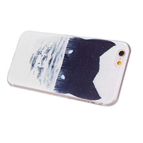 SainCat Coque Housse pour Apple iPhone 6s,Transparent Coque Silicone Etui Housse,iPhone 6 Silicone Case Soft Gel Cover Anti-Scratch Transparent Case TPU Cover,Fonction Support Protection Complète Magn Loup