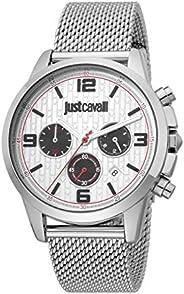 Just Cavalli Gents Crono Metal Watch JC1G175M0045 - Quartz Analog for Men in Stainless Steel Strap