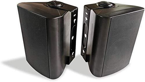 Herdio 5,25 Zoll 200 Watt Bluetooth Wasserdicht Außenlautsprecher Outdoor-Lautsprecher für Garten, Terrasse, Restaurant schwarz