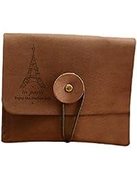 Porte monnaie marron tour Eiffel