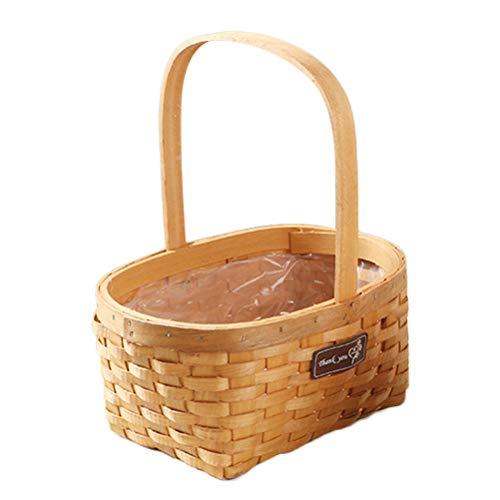 Caracteristicas - Color: como se muestra. - Material: madera de cedro. - Tamaño: 32x26x19cm. Paquete incluyendo 1 x Cesta de cesteria de mimbre plegable maceta de flores ideal para lavandería y almacenar juguetes ropa fruta o plantas