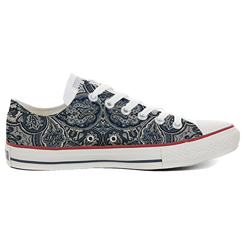 Converse All Star Chaussures Coutume (produit artisanal) Blue Paisley