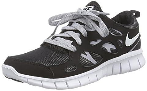 Nike Free Run 2 (Gs), Chaussures de running entrainement garçon, Noir / Blanc / Gris (Noir / Blanc-Loup Gris), 36.5 EU