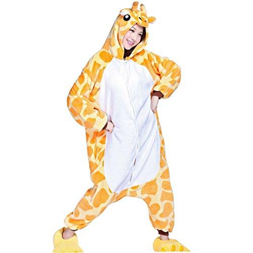 Happy Cherry - Adulte Unisex Costume Pyjama Ensemble Combinaison Déguisement Animal Polaire/Slipper Déguisement Animal Figure Chaussons