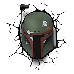 3D Light Fx Lampada LED 3Dlightfx-Star Wars Ep7 Boba Fett con Timer, Multicolore, 27 x 14.5 x 32 cm