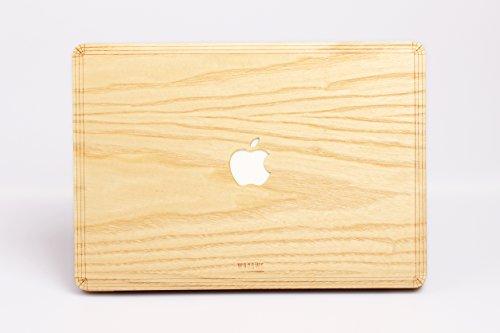 WOODWE Echtholz MacBook Skin für Pro 13 Zoll Retina Display | Modell: A1425/A1502; Ende 2012 – Anfang 2015 | Echtes & natürliches ESCHENHOLZ | Top&Bottom Aufkleber
