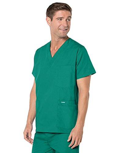 Landau Essentials Men's 5-Pocket Scrub Top -