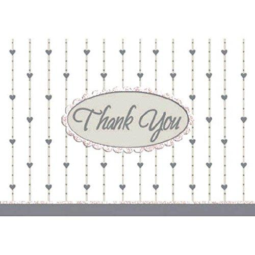 Thank You Karten und Umschläge 3–7/16Zoll von 4–7/16Zoll, 8/Pkg, Formal Affair Glitzer