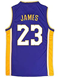 BUY-TO Baloncesto Jersey NBA Lakers Lebron James 23 para Hombres,Purple,XS