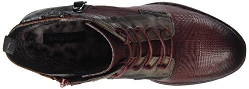 Bugatti Damen 411333343515 Stiefel Rot (Dark Red/ Multicolour)